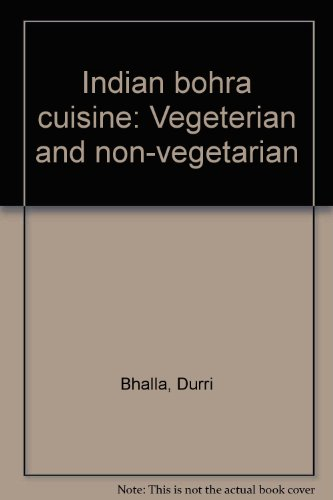 9788173813597: Indian Bohra Cuisine [Vegetarian and Non-Vegetarian]