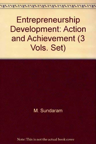 Entrepreneurship Development: Action and Achievement (3 Vols. Set)