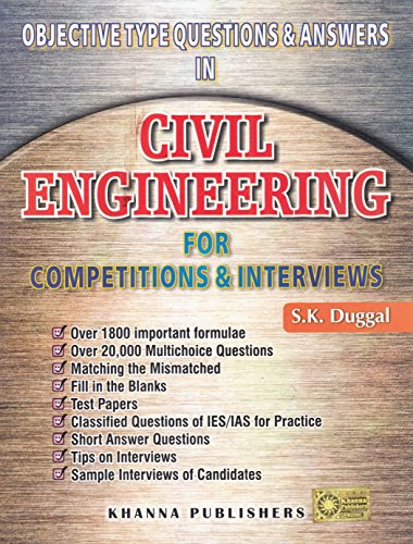 9788174092519: Civil Engineering For Objective Type Questions & Answers