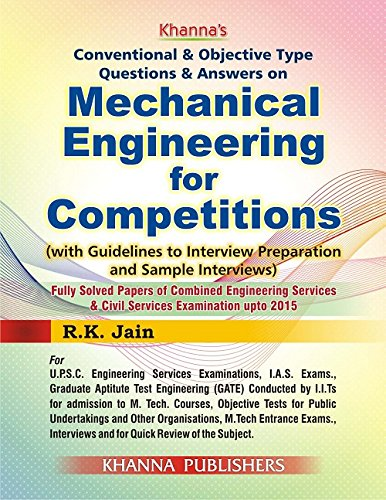 9788174092823: Conventional & Objective Type Questions & Answers on Mechanical Engineering for Competitions