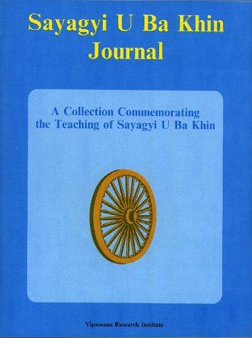 9788174140166: Sayagyi U Ba Khin Journal