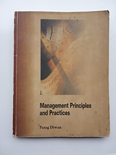 Management Principles and Practices: Parag Diwan