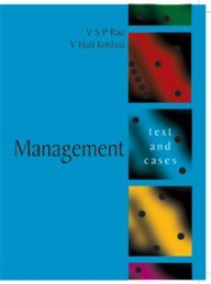 Management: Text and Cases (Paperback): V. S. P.