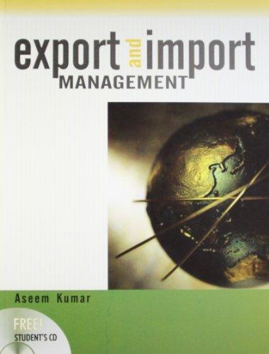 Export and Import Management: Aseem Kumar