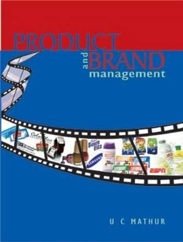 Product and Brand Management: U C Mathur
