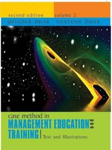 Case Method in Management Education: v. 2: Upendra Dhar, Santosh