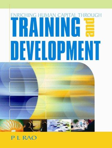 Enriching Human Capital through Training and Development: P L Rao