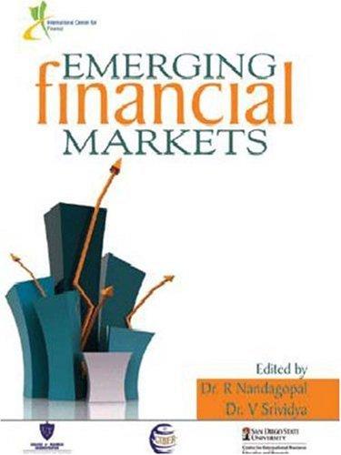 Emerging Financial Markets: Edited by R Nandagopal and V Srividya