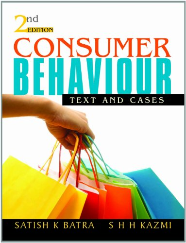 Consumer Behaviour: Text and Cases (Second Edition): S H H