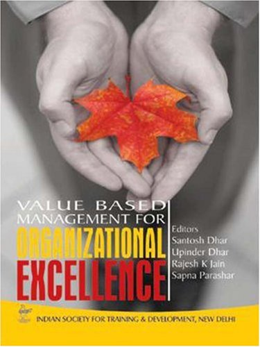 9788174467119: Value Based Management for Organizational Excellence