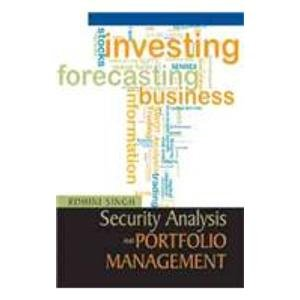 Security Analysis and Portfolio Management: Rohini Singh
