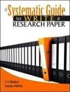 9788174469328: A Systematic Guide to Write a Research Paper