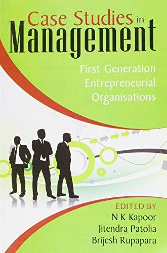 Case Studies In Management: Kapoor N K
