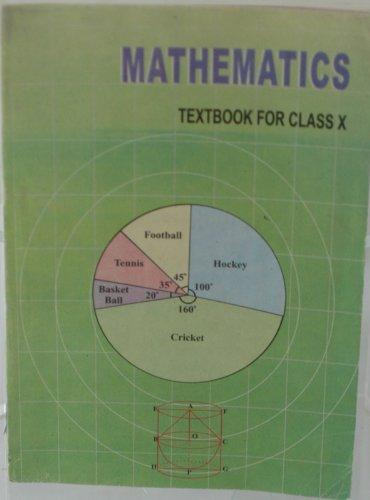 9788174501547: MATHEMATICS TEXTBOOK FOR CLASS X