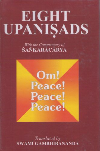 9788175050150: Eight Upanisads with the commentary of Sankaracarya (Two Vols.)