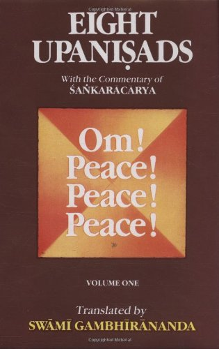 9788175050167: Eight Upanishads, with the Commentary of Sankaracarya, Vol. I