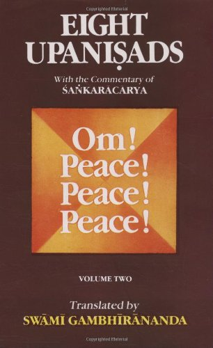 9788175050174: Eight Upanishads, with the Commentary of Sankara, Vol. II