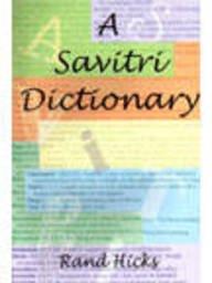 9788175090323: A Savitri Dictionary