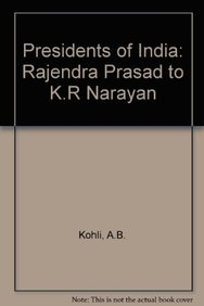 9788175100398: Presidents of India: Rajendra Prasad to K.R Narayan