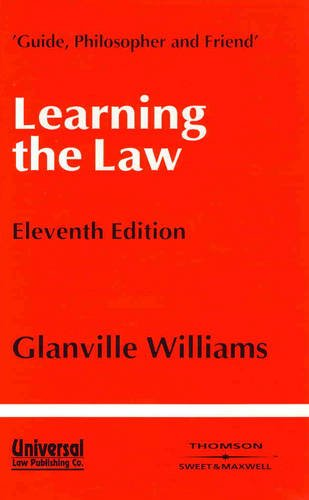 9788175340060: Learning the Law