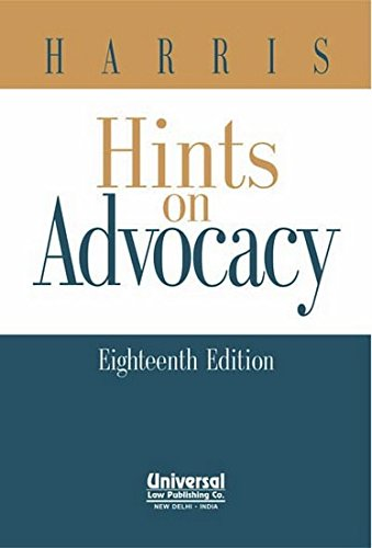 Hints on Advocacy (Eighth Edition): Harris