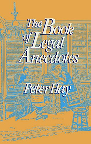 9788175341043: The Book of Legal Anecdotes