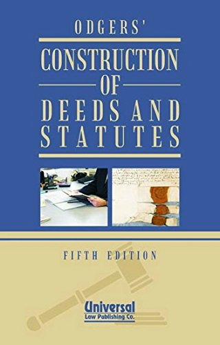 9788175341227: Construction of Deeds and Statutes
