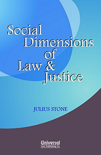 9788175341357: Social Dimensions of Law and Justice