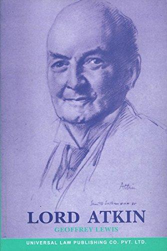9788175343061: Lord Atkin - A Biography