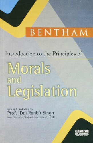 9788175343993: Introduction to the Principles of Morals and Legislation