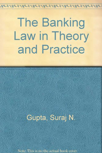 9788175344174: The Banking Law in Theory and Practice