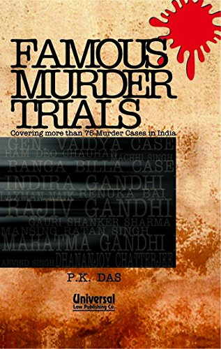 9788175346055: Famous Murder Trials: Covering More Than 75 Murder Cases in India