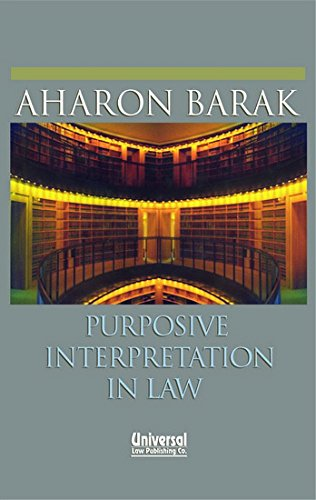 9788175346352: Purposive Interpretation in Law