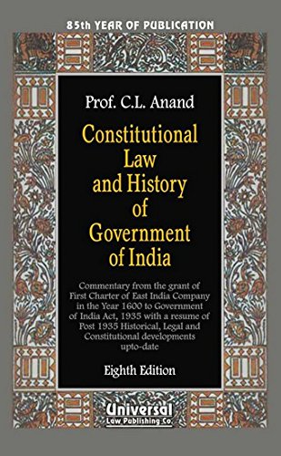 9788175346765: Constitutional Law and History of Government of India