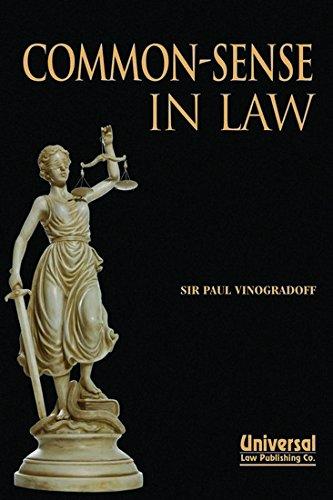 9788175347250: Common Sense in Law