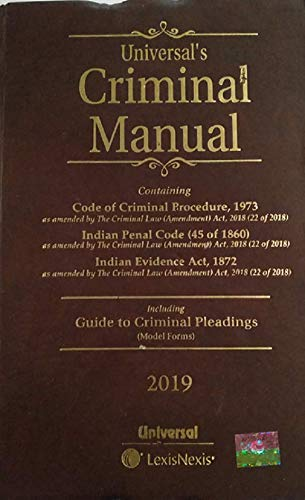 Criminal Manual (Cr.P.C., I.P.C. and Evidence) (Deluxe: UNIVERSAL'S Legal Manual