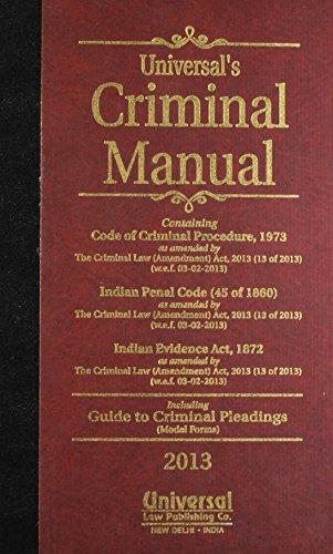 9788175349193: Criminal Manual (Cr.P.C., I.P.C. & Evidence)
