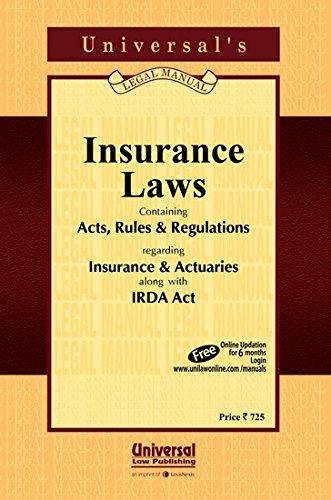 Insurance Laws: UNIVERSAL'S Legal Manual