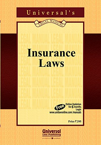 Insurance Laws (Acts only) (Pocket Size): UNIVERSAL'S Legal Manual