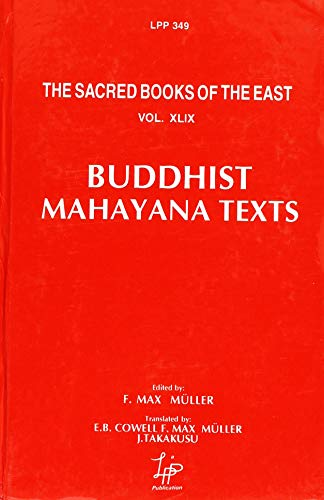 9788175360495: Buddhist Mahayana Texts (Sacred Books of the East)
