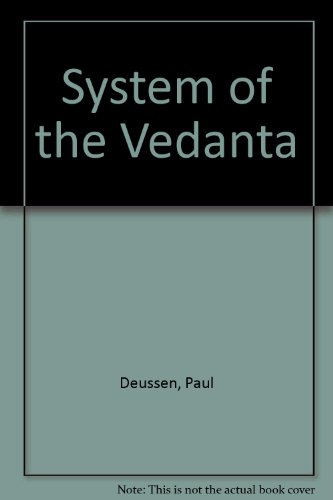 9788175361430: System of the Vedanta