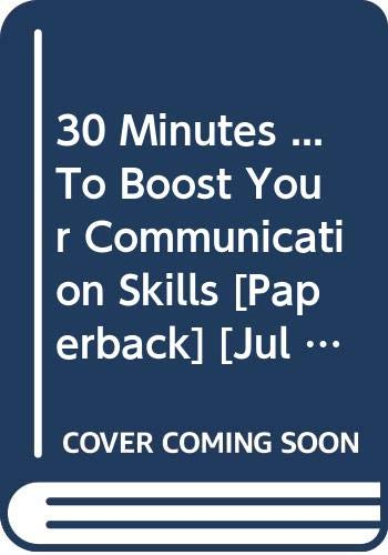 9788175540675: 30 Minutes ... To Boost Your Communication Skills