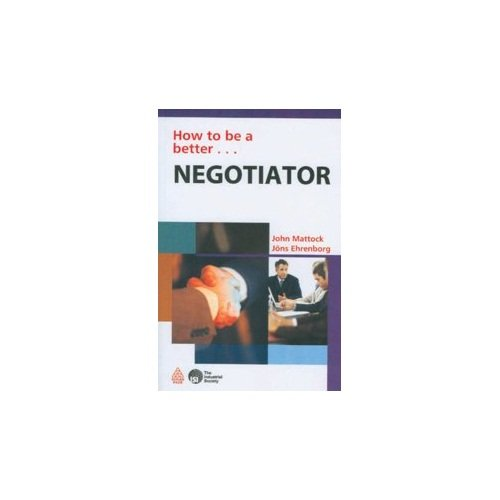 9788175544239: How to be a Better Negotiator [Paperback]