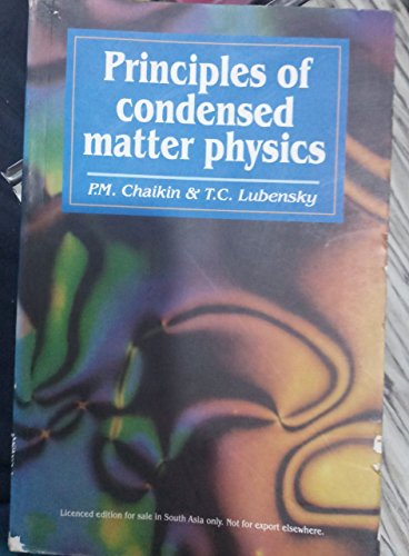 9788175960251: Principles of Condensed Matter Physics