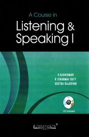 9788175963344: A Course in Listening and Speaking I
