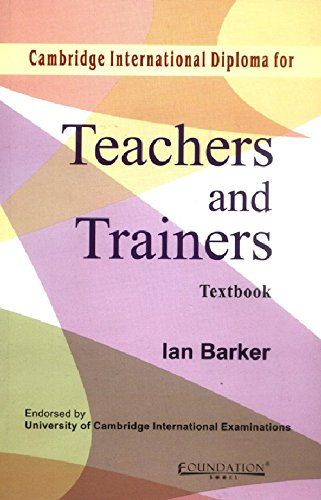 9788175963498: Cambridge International Diploma for Teachers and Trainers Textbook