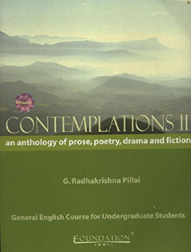 Contemplations II: An Anthology of Prose, Poetry, Drama and Fiction (Periyar University): G. ...