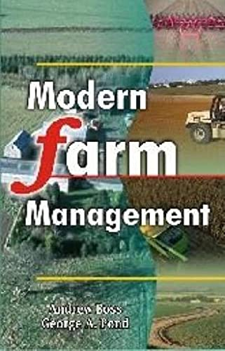 Modern Farm Management: Principles and Practice