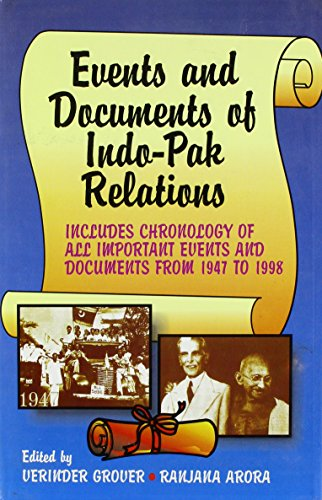 9788176290593: Events and Documents of Indo-Pak Relations
