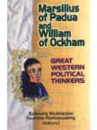 9788176291422: Marsilius of Padua and William of Ockham: Great Western Political Thinker